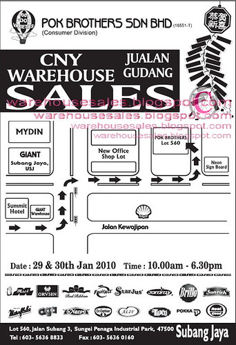 29 - 30 Jan: Pok Brothers CNY Warehouse Sale
