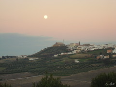 Moon over Montilla (sula113) Tags: sunset moon sula montilla abigfave