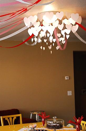 Paper Hearts Chandelier