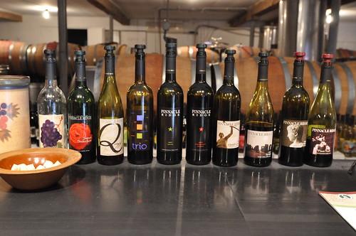 wines at Pinnacle Ridge
