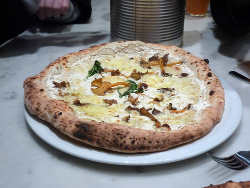 Wild mushroom and ricotta pizza
