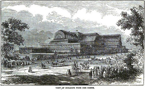 The Crystal Palace from the north in 1854