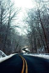 Winding In The Snow (geoff.greene) Tags: road snow delete10