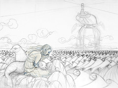 WIP Sea Lion Dream - Rough sketch 3