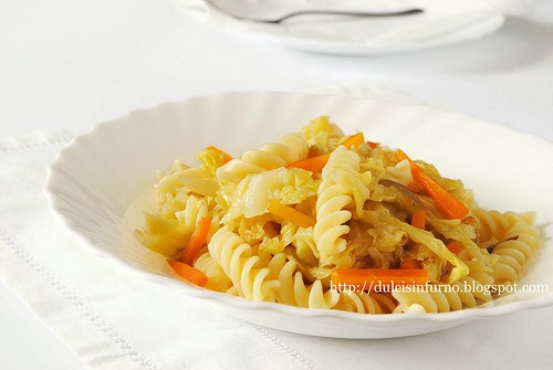 Fusilli con la Verza-Pasta with Cabbage