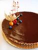 Pastís de xocolata en tres textures