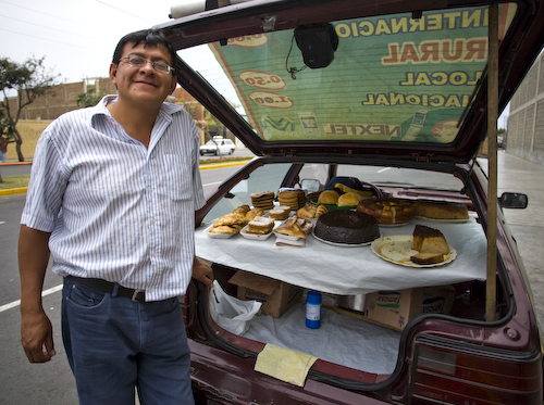 In Trujillo, we met Alejandro selling delicious pastries out of his hatchback near the local shopping mall.