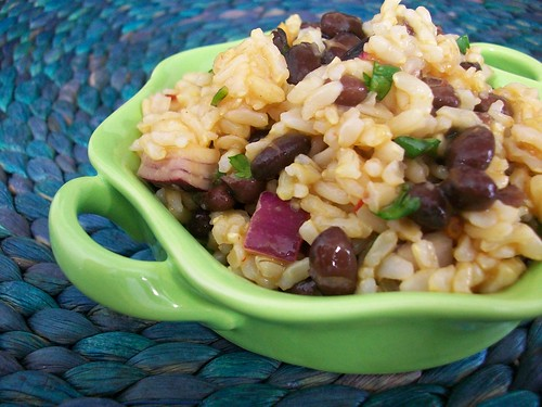 Brown Rice Salad with Orange Chipotle Vinaigrette