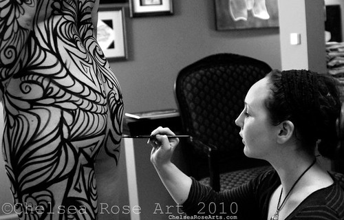body painting in the T.Ruth loft