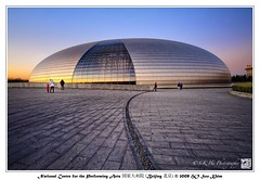 Beijing  - National Centre for the Performing Arts () (SKHO ) Tags: china travel light sunset architecture buildings lowlight nikon beijing     structural   d700 nikond700 nationalcentrefortheperformingarts worldtrekker