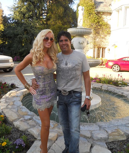 Kaki West, Gordon Vasquez, Playboy Mansion Superbowl Party