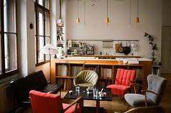 (Gebhart de Koekkoek) Tags: vienna film kitchen loft studio table office contax tennis photostudio t2 studio65