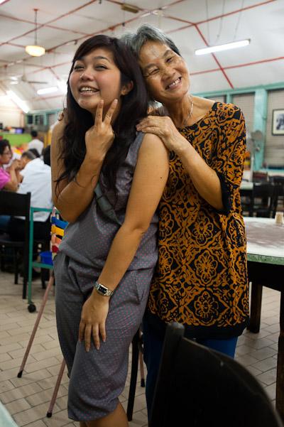 Angie and proprietress, Sek Yuen, Kuala Lumpur, Malaysia