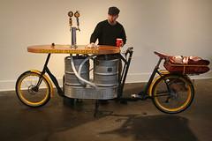 Phillip Ross Shows off Metrofiets Bike (compujeramey) Tags: bicycle portland phillipross hopworks hopworksurbanbrewery metrofiets