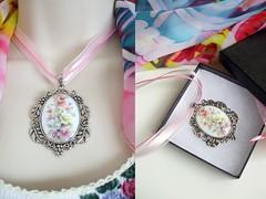 ROMANTIC ROSE CAMEO PENDANT (Cottage Rose Garden Designs) Tags: handmade jewelry cameo romantic chakra artisan pendant