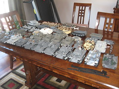 Aaron's Lego Military Vehicle Collection Feb 2010 (Aaron Patrick Morse) Tags: tank lego military tiger wip canadian ww2 minifig panther m4 sherman panzer kingtiger m7 moc nashorn sturmgeschtz stug brickarms brickforge