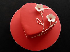 Heart Cake (Cupcake Sisters (Senel)) Tags: flowers wedding red white cakes spain heart chocolate ganache valentine mallorca islasbalerares cupcakesisters