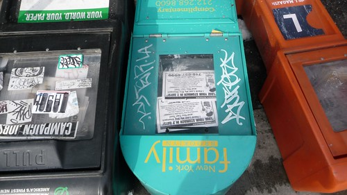Fallen news boxes