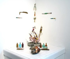 installation view (altar) (Opal Owl) Tags: art vintage shrine crystal wand altar ritual spiritual healing wicca witchcraft pagan talisman shamanism athame reiki upcycle