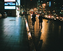 2114/1804 (A Better Tomorrow)'- (june1777) Tags: street leica light rain night 35mm fuji superia cigarette cosina voigtlander snap 400 seoul m6 nokton gangnam f12 xtra v4