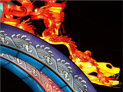 西安南门城墙上观灯