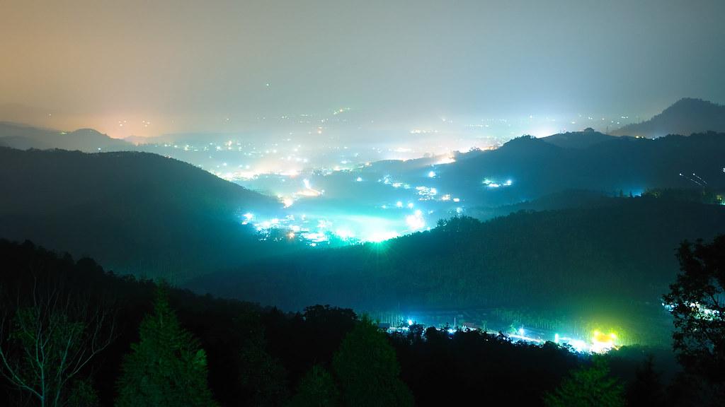 日月潭 五城 夜景