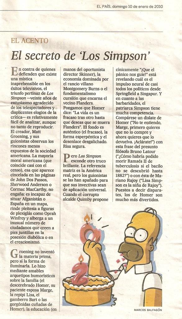 Tebeos de los Simpsons: Aniversario de los Simpson, en \'El acento ...
