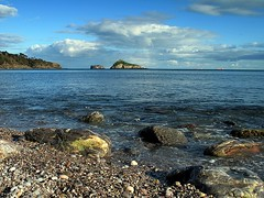 Low tide and rocks Meadfoot (rosiespoonerphotos) Tags: uk blue sea england seascape beach water clouds canon landscape photography coast rocks flickr ps devon torquay coastpath torbay meadfoot g10 thatcherrock canong10 rosiespooner rosyrosie2009 rosemaryspooner rosiespoonerphotography