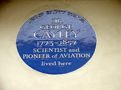 Photo of George Cayley blue plaque