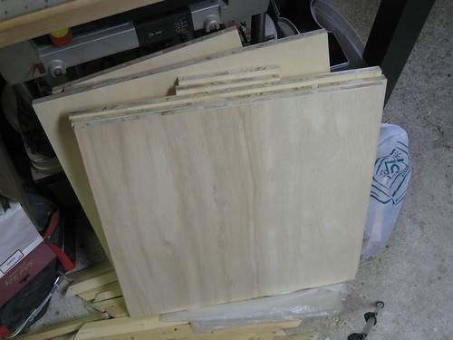 cut panels for shelving