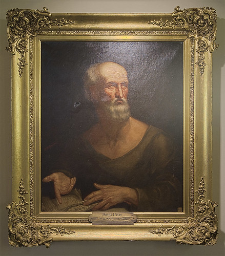 "Oil painting, ""Saint Peter"" by William R. Simpson, at the Pere Marquette Gallery of the Saint Louis University Museum of Art, in Saint Louis, Missouri, USA"