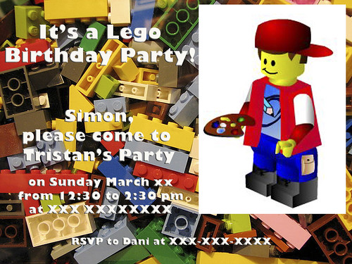 395:1000 Lego birthday invite