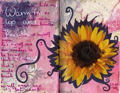 Sunflower (kalimorgana) Tags: sunflower napkins artjournal breatheme