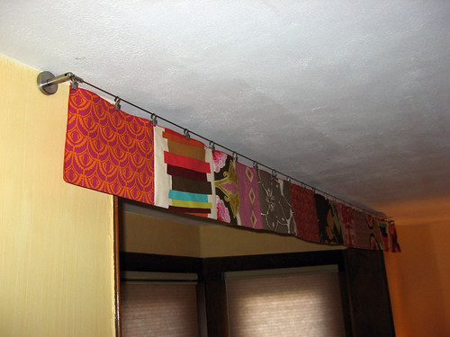 Valance hides the retracted projector screen