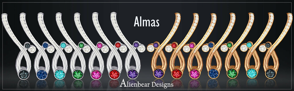 Almas earrings I poster