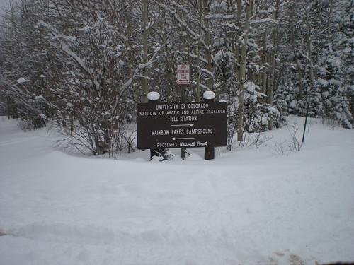 Rainbow Lakes Campground Signage