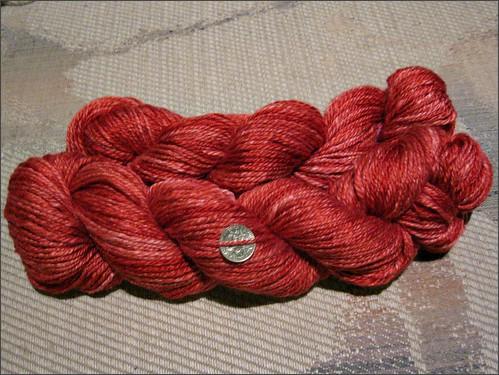 Ruby Merino-Silk yarn
