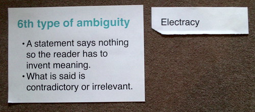 Empson, the 6th type of ambiguity & literacies