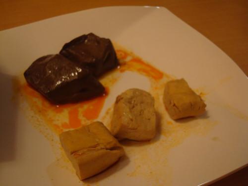 麻辣鴨血跟臭豆腐