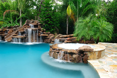 Platinum Pools - Slide and Waterfall (Platinum Pools) Tags: swimmingpool waterfalls waterslide spa