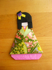 Japanese Chiyogami Paper Doll - Atsuka (umeorigami) Tags: japan paper japanese origami doll handmade paperdoll papercraft washi ningyo chiyogami shioriningyo warabeningyo
