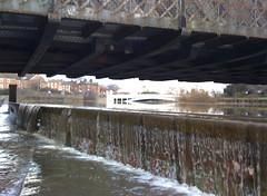 River Mersey overcomes wall at Warrington Railbridge Underpass #4 (Ianmoran1970) Tags: wet water rain river flow flood over bank burst mersey iphone ianmoran burstbank ianmoran1970
