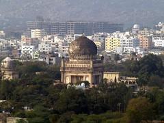 Qutub Shahi Tombs (Bathers.) Tags: fort hyderabad golconda