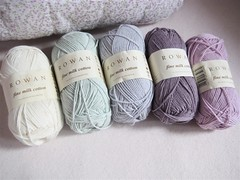 Lovelies that needed to be picked up for spring (moline) Tags: knitting pastel powder cotton rowan crocheting