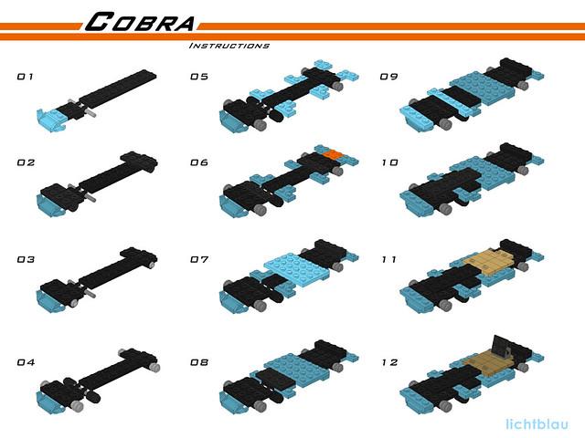 6 Studs Wide Lego Ac Shelby Cobra Lichtblau Lego Technic And