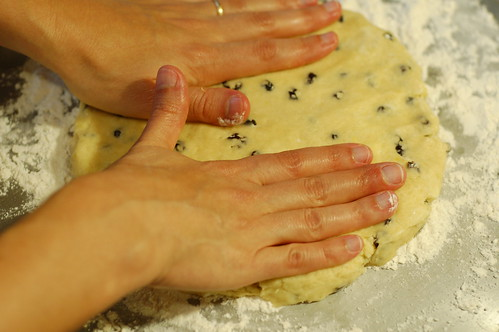 Patting out the dough for scones by Eve Fox, Garden of Eating blog