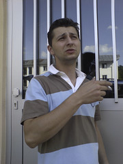 Cigaret Time ( La Kawa) Tags: door spiegel spiegelbild tuer zigarette cigaret k800i