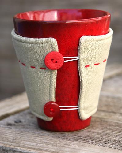 Mug cozy in linen