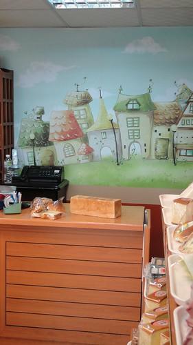 美點烘培坊店內壁面大圖輸出