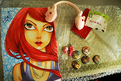 Thank you SOOO much Cat!!! <3 (yukittie) Tags: bunny art cat drawing craig bjd eboni earwarmers eluts